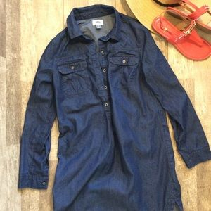 Old Navy Chambray Dress Shirt Size Small